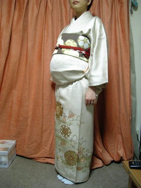 妊婦(臨月)の着物の着付け